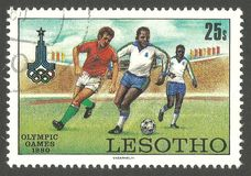 Olympic Games, Moscow, Soccer Stock Photo