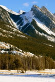 Olympic games in the neighborhood, canada. Jasper national park, alberta, canada, sunny weather, first snow Royalty Free Stock Photography