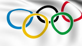 Olympic Games Official Flag stock video