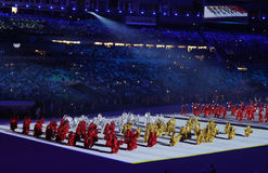 Olympic Games 2016 Officially opened with a colorful ceremony at Maracana Stadium in Rio de Janeiro Royalty Free Stock Photo