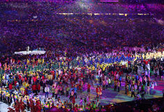 Olympic Games 2016 Officially opened with a colorful ceremony at Maracana Stadium in Rio de Janeiro Royalty Free Stock Images