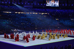 Olympic Games 2016 Officially opened with a colorful ceremony at Maracana Stadium in Rio de Janeiro Stock Photography