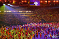Olympic Games 2016 Officially opened with a colorful ceremony at Maracana Stadium in Rio de Janeiro Stock Image
