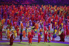 Olympic Games 2016 Officially opened with a colorful ceremony at Maracana Stadium in Rio de Janeiro Stock Photo