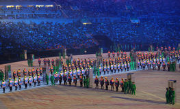 Olympic Games 2016 Officially opened with a colorful ceremony at Maracana Stadium in Rio de Janeiro Stock Images