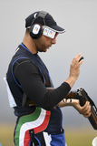 Olympic Games Rio 2016. Rio, Brazil - august 10, 2016: BARILLA Antonino ITA during Double Trap Men at Olympic Games 2016 in Olympic Shooting Centre, Deodoro royalty free stock image
