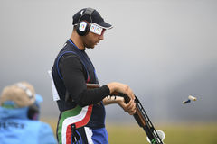 Olympic Games Rio 2016. Rio, Brazil - august 10, 2016: BARILLA Antonino ITA during Double Trap Men at Olympic Games 2016 in Olympic Shooting Centre, Deodoro stock images