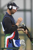 Olympic Games Rio 2016. Rio, Brazil - august 10, 2016: BARILLA Antonino ITA during Double Trap Men at Olympic Games 2016 in Olympic Shooting Centre, Deodoro stock photos