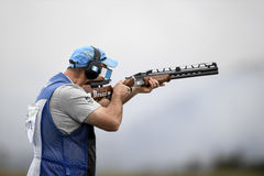 Olympic Games Rio 2016. Rio, Brazil - august 10, 2016: BROL Enrique GUA during Double Trap Men at Olympic Games 2016 in Olympic Shooting Centre, Deodoro Stock Photo