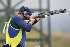 Olympic Games Rio 2016. Rio, Brazil - august 10, 2016: DAHLBY Hakan SWE during Double Trap Men at Olympic Games 2016 in Olympic Shooting Centre, Deodoro stock photo