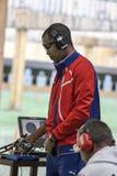 Olympic Games Rio 2016. Rio, Brazil - august 10, 2016: GRAU POTRILLE Jorge CUB during shooting 50m Pistol Men Shooting at Olympic Games 2016 in Olympic Shooting stock photo