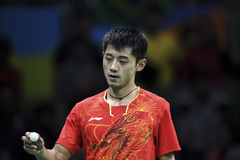 Olympic Games Rio 2016. Rio, Brazil, 11 august 2016: The table tennis player Jike ZHANG (CHN) when playing against Vladimir SAMSONOV (BLR) during Olympic Games Royalty Free Stock Images