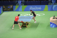 Olympic Games Rio 2016. Rio, Brazil, 11 august 2016: The table tennis player Long MA (CHN) when playing against Jike ZHANG (CHN) during Olympic Games Rio 2016 at Stock Photo