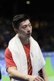 Olympic Games Rio 2016. Rio, Brazil, 11 august 2016: The table tennis player Long MA & x28;CHN& x29; when playing against Jike ZHANG & x28;CHN& x29; during Stock Photography