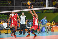 Olympic Games Rio 2018. Rio, Brazil, august 09, 2016. VOLLEYBALL MEN - Badly Mohamed Moneim EGY during Cuba CUB vs Egypt EGY at the 2016 Summer Olympic Games in Royalty Free Stock Image