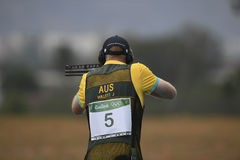 Olympic Games Rio 2016. Rio, Brazil - august 10, 2016: WILLETT James AUS during Double Trap Men at Olympic Games 2016 in Olympic Shooting Centre, Deodoro stock image
