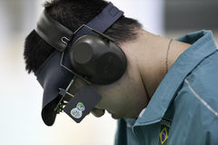 Olympic Games Rio 2016. Rio, Brazil - august 10, 2016: WU Felipe Almeida BRA during shooting 50m Pistol Men Shooting at Olympic Games 2016 in Olympic Shooting royalty free stock image