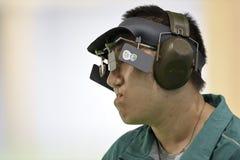 Olympic Games Rio 2016. Rio, Brazil - august 10, 2016: WU Felipe Almeida BRA during shooting 50m Pistol Men Shooting at Olympic Games 2016 in Olympic Shooting royalty free stock photography