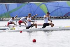 Olympic Games Rio 2016. Rio de Janeiro, Brazil. August 20, 2016. BRENDEL Sebastian and VANDREY Jan (GER) during Men's Canoe Double 1000m final at the 2016 Summer Stock Image