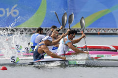 Olympic Games Rio 2016. Rio de Janeiro, Brazil. August 20, 2016. CANOE SPRINT - HEATH Liam (GBR) during Men's Kayak single 200m at the 2016 Summer Olympic Games Royalty Free Stock Image
