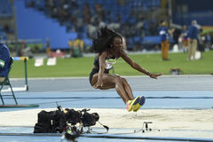 Olympic Games Rio 2016. Rio de Janeiro, Brazil - august 16, 2016: NETTEY Christabel (CAN) during women's Long Jump in the Rio 2016 Olympics Games stock photos