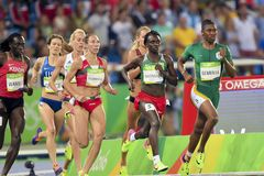 Olympic Games Rio 2016. Rio de Janeiro, Brazil - august 20, 2016: NIYONSABA Francine (BDI) during women's 800m in the Rio 2016 Olympics Games royalty free stock photos