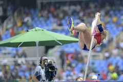 Olympic Games Rio 2016. Rio de Janeiro, Brazil - august 16, 2016: PTACNIKOVA Jirina & x28;CZE& x29; during Womens´s Pole Vault in the Rio 2016 Olympics Games Stock Photography