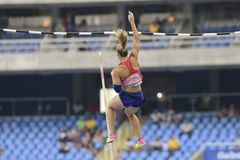 Olympic Games Rio 2016. Rio de Janeiro, Brazil - august 16, 2016: PTACNIKOVA Jirina (CZE) during Womens´s Pole Vault in the Rio 2016 Olympics Games Royalty Free Stock Photos