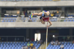 Olympic Games Rio 2016. Rio de Janeiro, Brazil - august 16, 2016: PTACNIKOVA Jirina (CZE) during Womenss Pole Vault in the Rio 2016 Olympics Games Royalty Free Stock Images