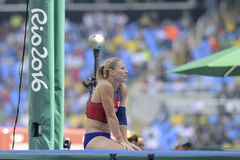 Olympic Games Rio 2016. Rio de Janeiro, Brazil - august 16, 2016: PTACNIKOVA Jirina (CZE) during Womenss Pole Vault in the Rio 2016 Olympics Games Stock Images