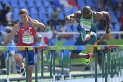 Olympic Games Rio 2016. Rio de Janeiro, Brazil - august 18, 2016: Runner Luiz Alberto de ARAUJO BRA during Men´s Decathon 110m Hurdles in the Rio 2016 stock image