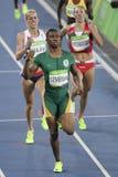 Olympic Games Rio 2016. Rio de Janeiro, Brazil - august 18, 2016: Runner SEMENYA Caster (RSA) during 800m Women's run in the Rio 2016 Olympics Games stock photos