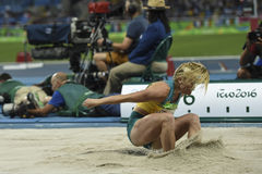 Olympic Games Rio 2016. Rio de Janeiro, Brazil - august 16, 2016: STRATTON Brooke (AUS) during women's Long Jump in the Rio 2016 Olympics Games royalty free stock images