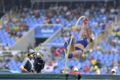 Olympic Games Rio 2016. Rio de Janeiro, Brazil - august 16, 2016: WEEKS Lexi (USA) during Womenss Pole Vault in the Rio 2016 Olympics Games stock images