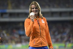 Olympic Games Rio 2016. Rio de Janeiro, Brazil - august 18, 2016: Women's 200m podium with Dafne SCHIPPERS (NED) silver medalist during the 2016 Olympics stock photos