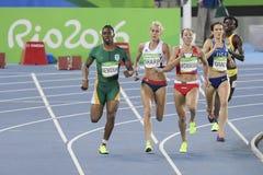Olympic Games Rio 2016. IRio de Janeiro, Brazil - august 18, 2016: Runner ARZAMASOVA Marina (BLR) during 800m Women's run in the Rio 2016 Olympics Games stock images