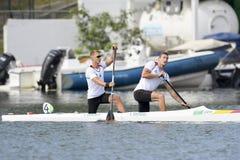 Olympic Games Rio 2016. Rio de Janeiro, Brazil. August 20, 2016. BRENDEL Sebastian and VANDREY Jan (GER) during Men's Canoe Double 1000m final at the 2016 Summer Stock Photography