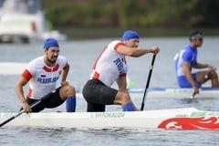 Olympic Games Rio 2016. Rio de Janeiro, Brazil. August 20, 2016. SHTOKALOV Ilia and PERVUKHIN Ilya (RUS) during Men's Canoe Double 1000m final at the 2016 Stock Images