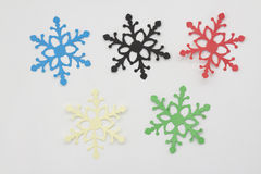 Olympic games snowflakes Royalty Free Stock Images