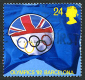 1992 Olympic Games UK Postage Stamp Royalty Free Stock Images
