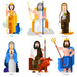 Olympic Gods Decorative Icons Set Stock Image