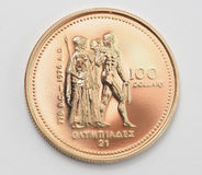 Olympic gold coin Royalty Free Stock Image
