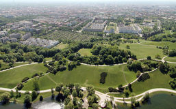 Olympic hill in Munich Stock Photos