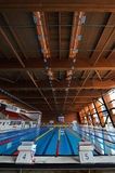 Olympic indoor swimming pool Stock Photo