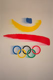 Olympic Logo Barcelona Games Emblem Stock Images