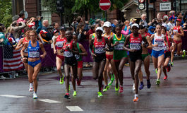 Olympic Marathon. The womens leading pack in the female marathon at the 2012 Olympic Games Stock Photography