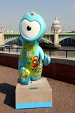 Olympic mascot. One of the many painted olympic mascot sculptures in london for the olympic games Royalty Free Stock Photography