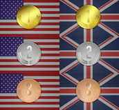 Olympic medal Stock Images