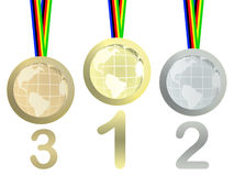 Olympic medals Stock Images