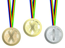 Olympic medals. On white background royalty free illustration